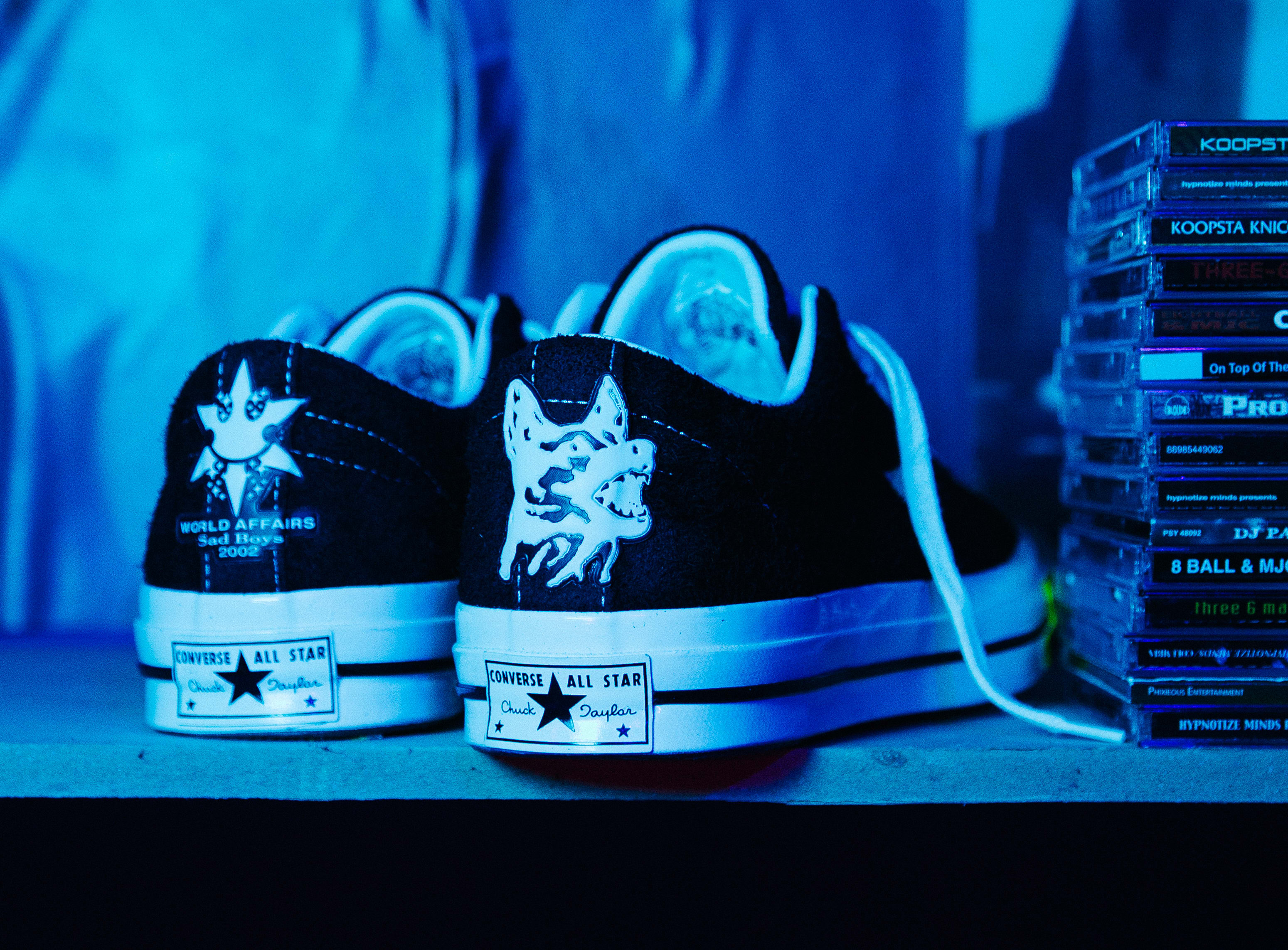 innowacyjny design buty skate ujęcia stóp Yung Leanが「One Star Hotel」にてコンバースとの ...